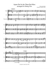 Agnus Dei from the Three Part Mass arranged for String Trio