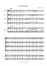 Cantate Domino for SATB
